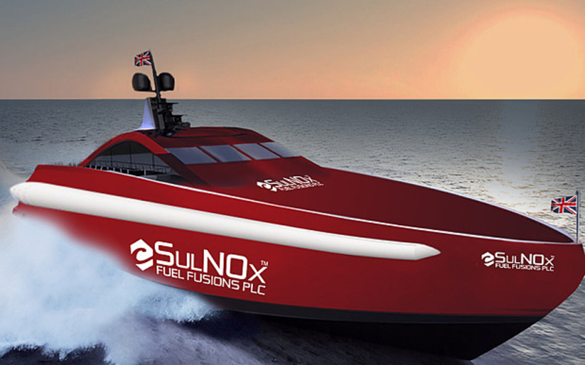 Rendering of how the Team Britannia boat will look when completed.