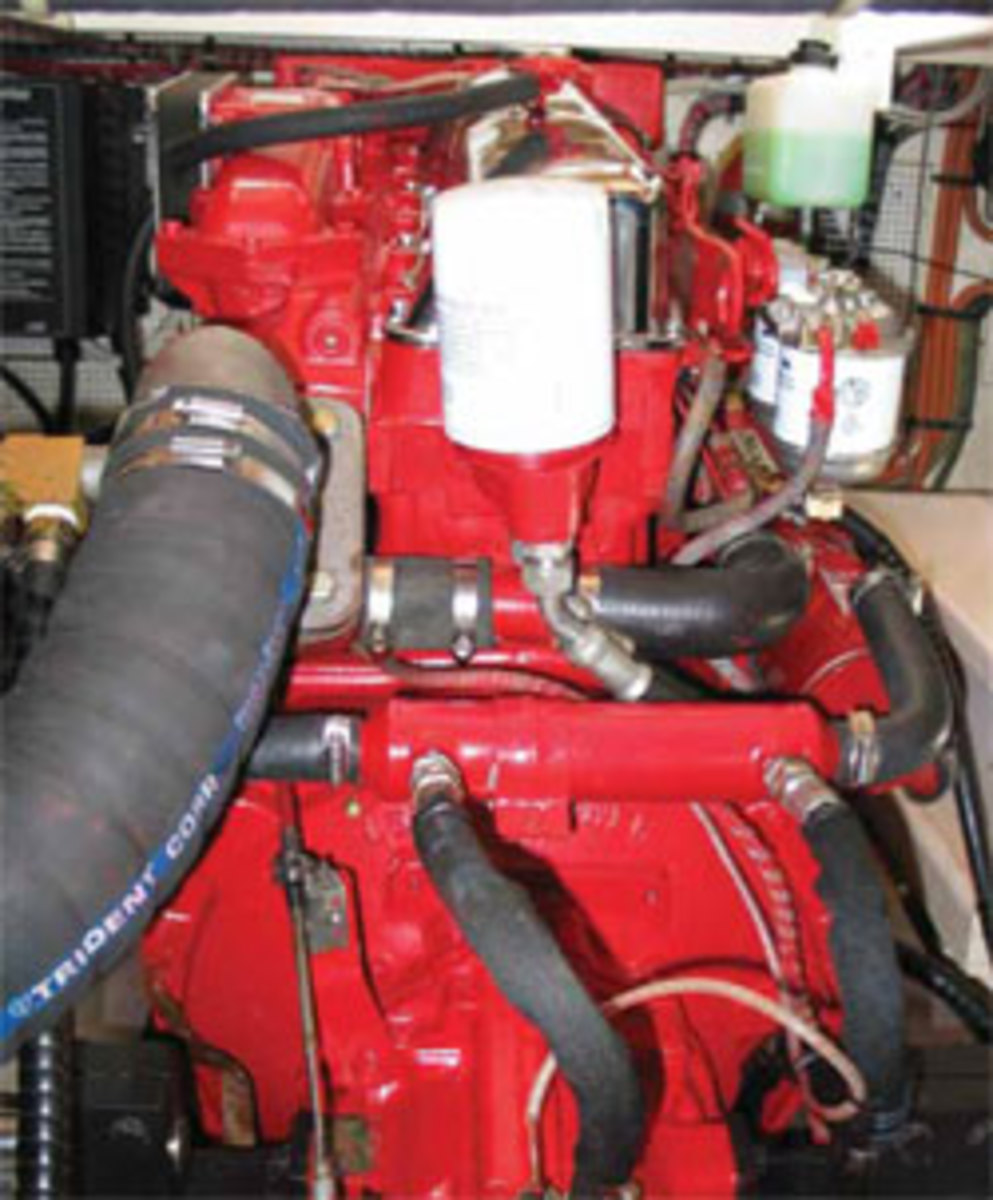 Inspect engine hoses regularly, and, when one needs replacing, don't recycle hose clamps.