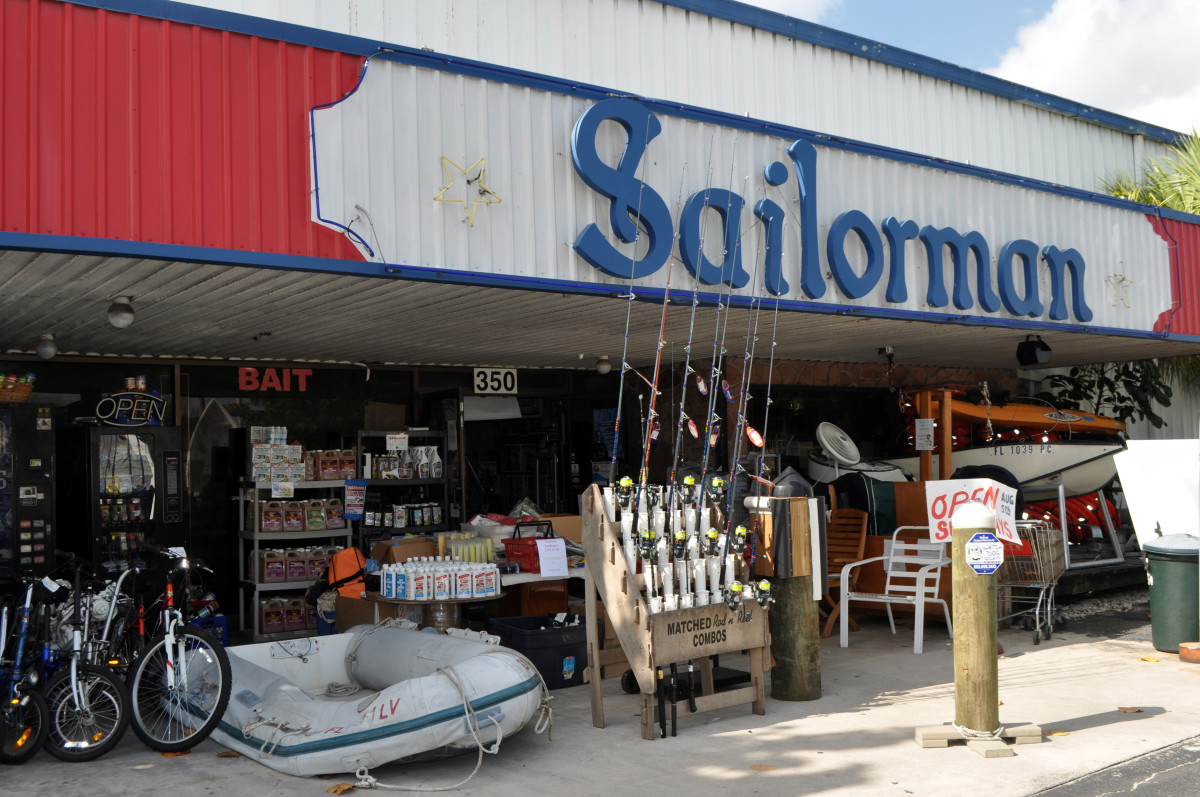 Sailorman is a Fort Lauderdale institution, selling all manner of used and surplus nautical gear.