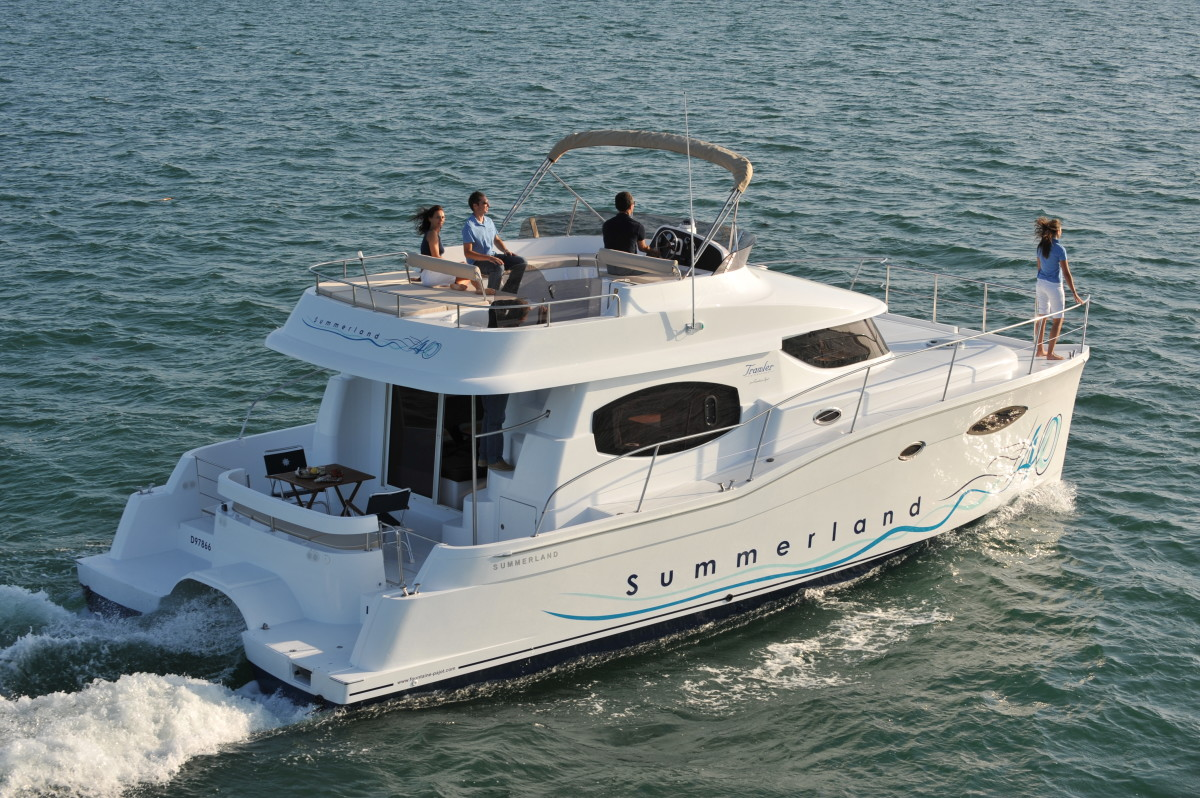The flybridge is spacious and features almost 270-degree wraparound seating to accommodate plenty of guests.