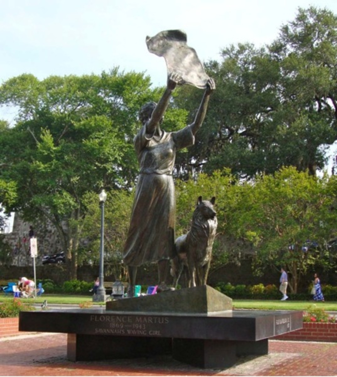 "Florance Martus, Savannah's ""waving girl."""