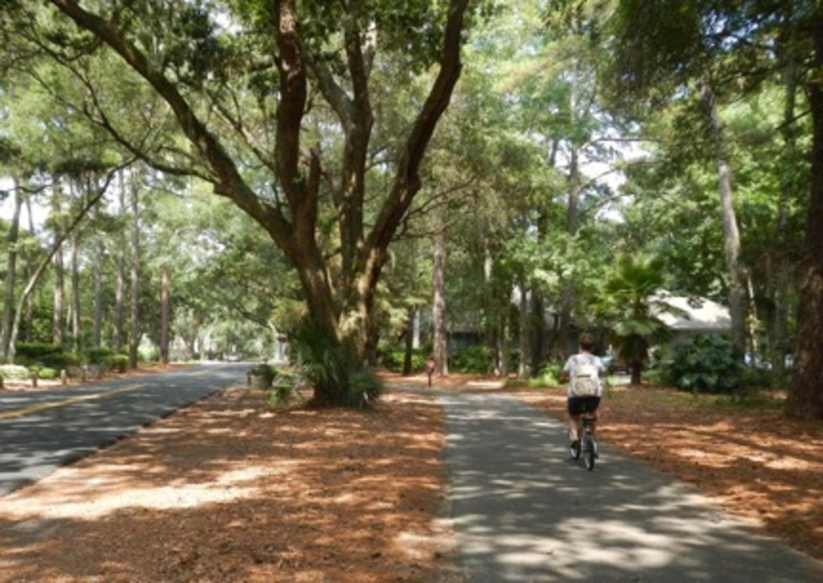 Winding through residential areas and golf courses, the Sea Pines Resort has some of the best bike paths around.