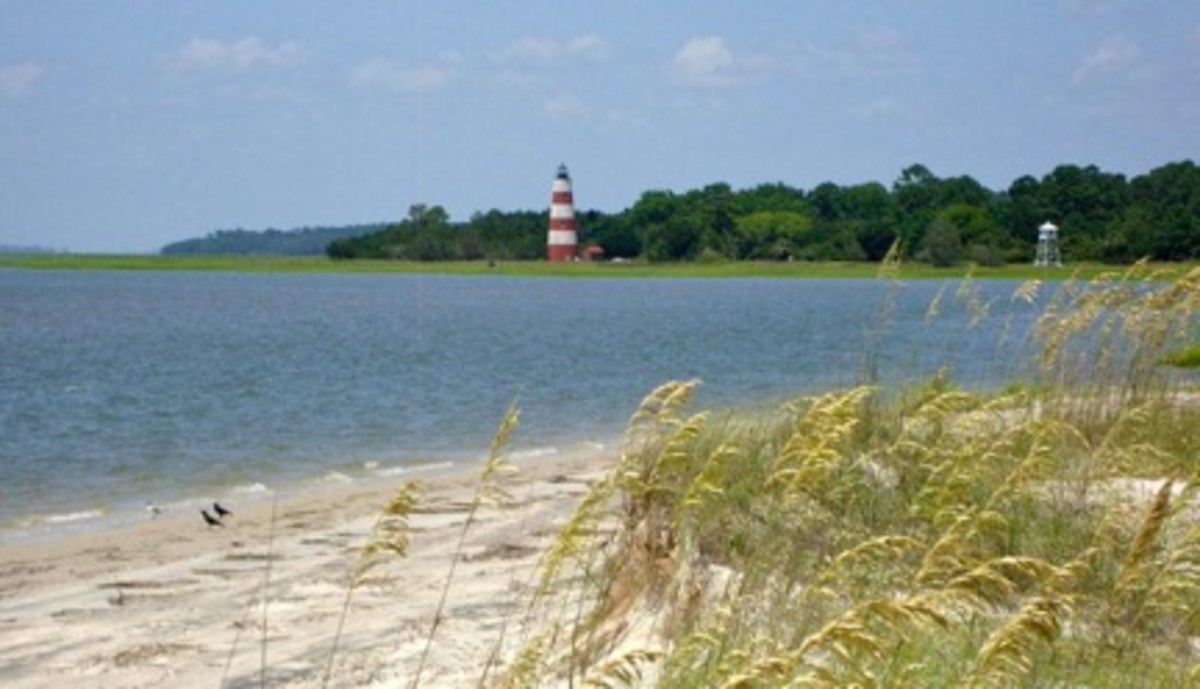 The Sapelo Island lighthouse.