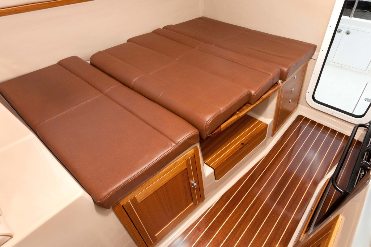 The dinette can convert to a queen berth if owner's decide to share in the adventures.
