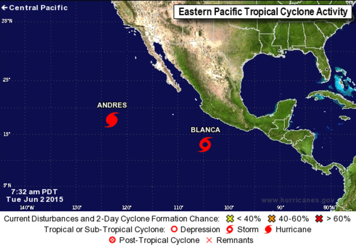 image as of yesterday morning. Blanca has since strengthened as Andres continues to weaken.