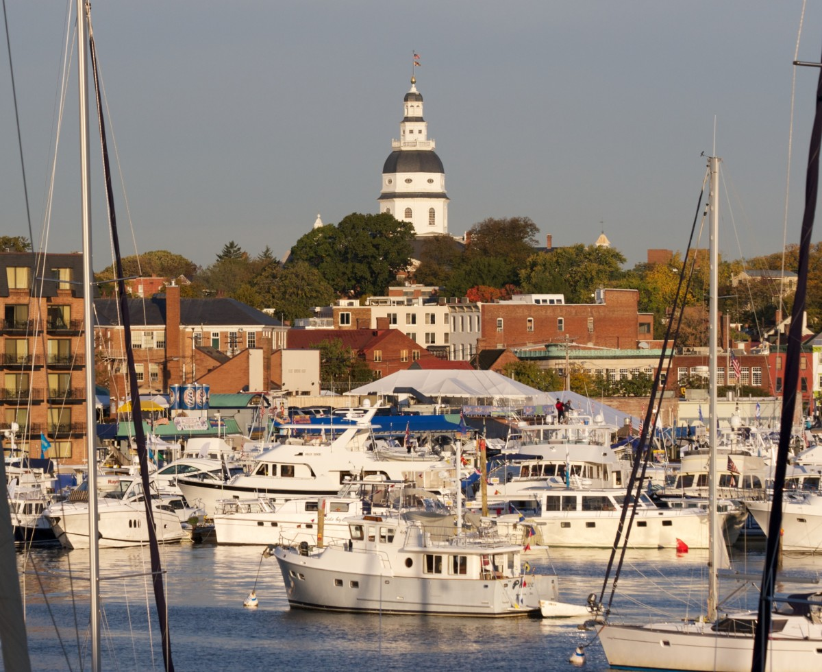 Annapolis Harbor is a lively boating destination.