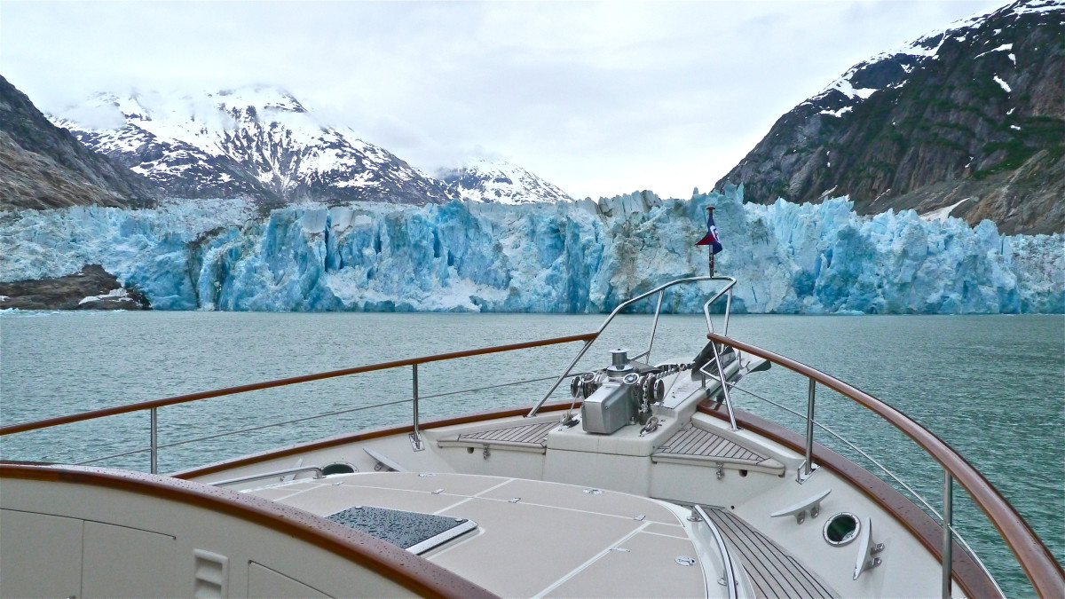Sawyer Glacier off Venture's bow. nearly everywhere you look the eyes are met with intense beauty.