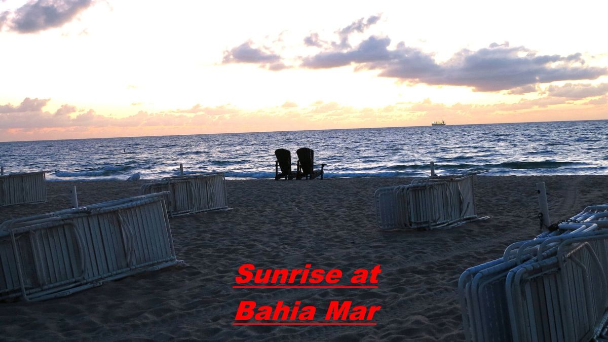 Sunrise at Bahia Mar