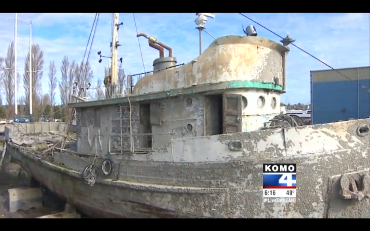 The Western Flyer spent a year underwater and will need an extensive renovation.
