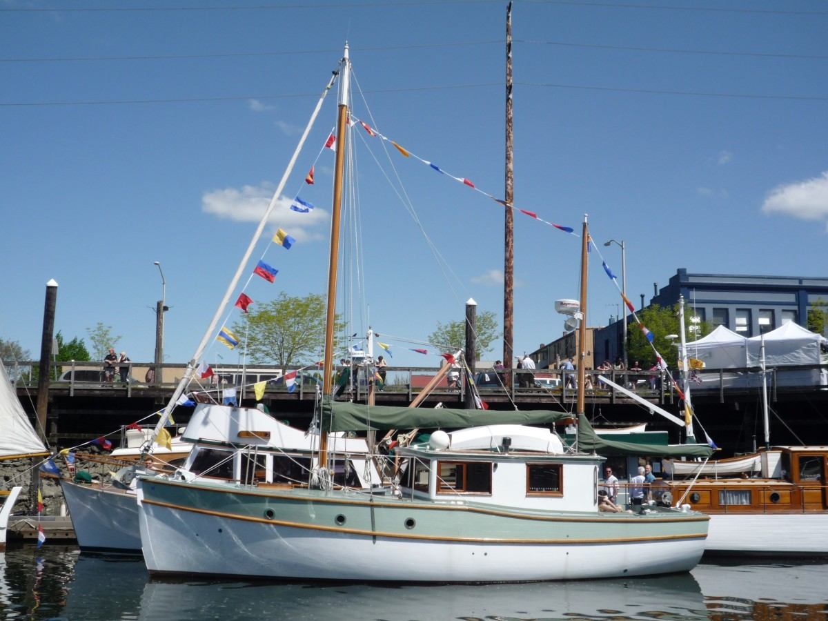 Years later, the completed Ama returned to grace the Wooden Boat Fest.