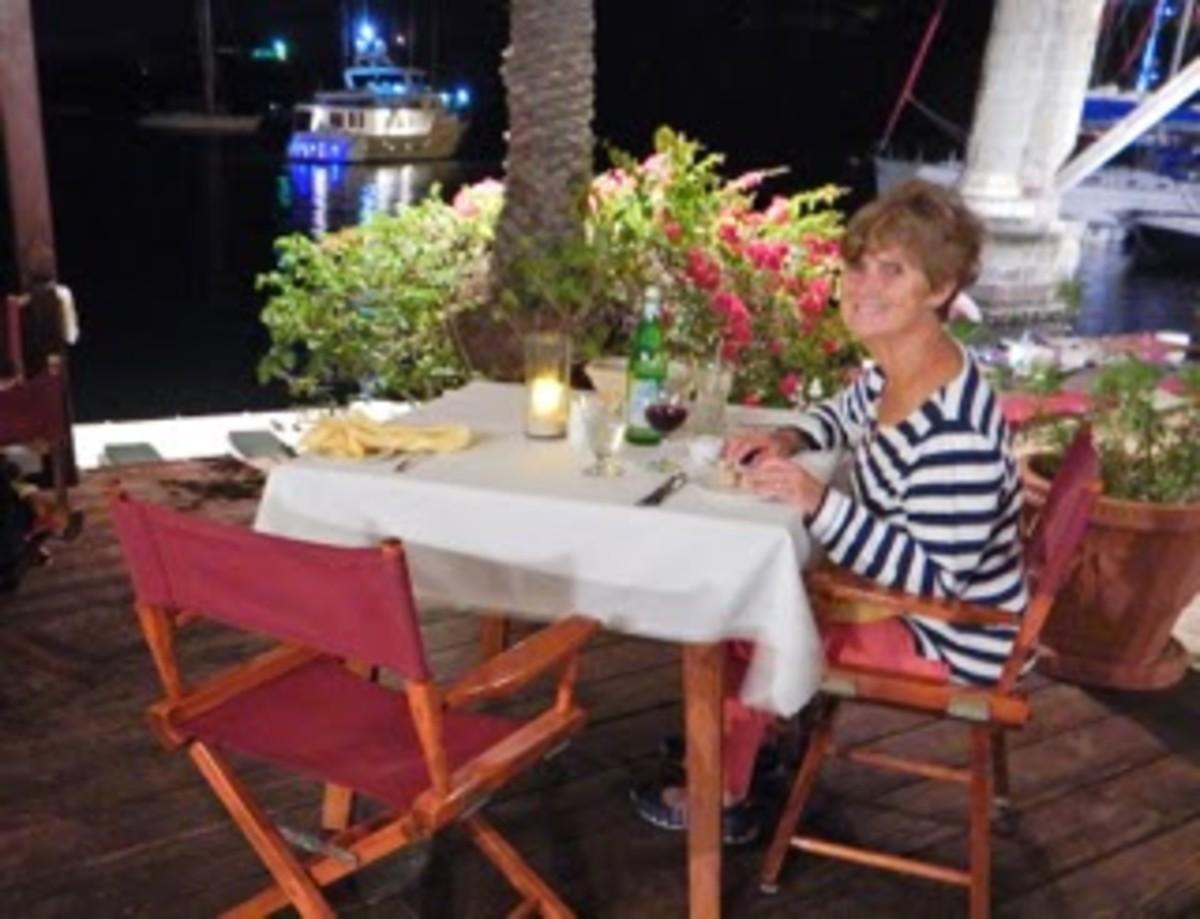 Jackie at Dinner.
