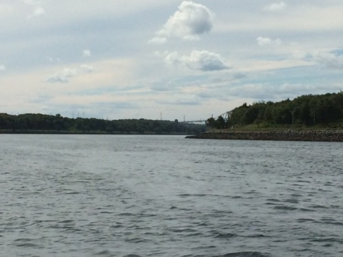 In the Cape Cod Canal, the only flat water we'd see all day.