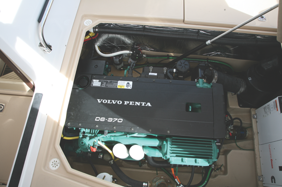 Engine access is by way of a large deck hatch which provides good accessibility to all service points and systems.