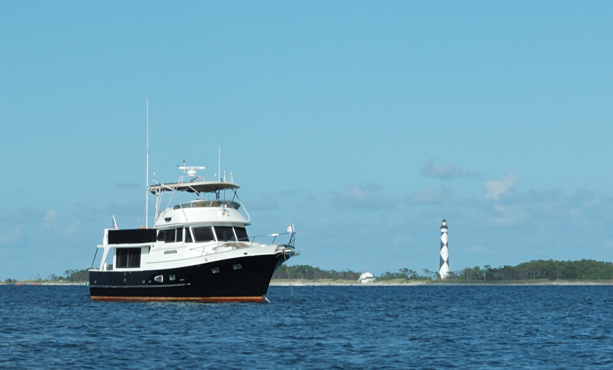 DeFever 49, Adventures, at Cape Lookout in North Carolina.
