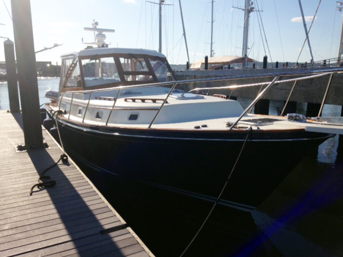 After TrawlerFest the Thorne family bought Halcyon, a Little Harbor 38.