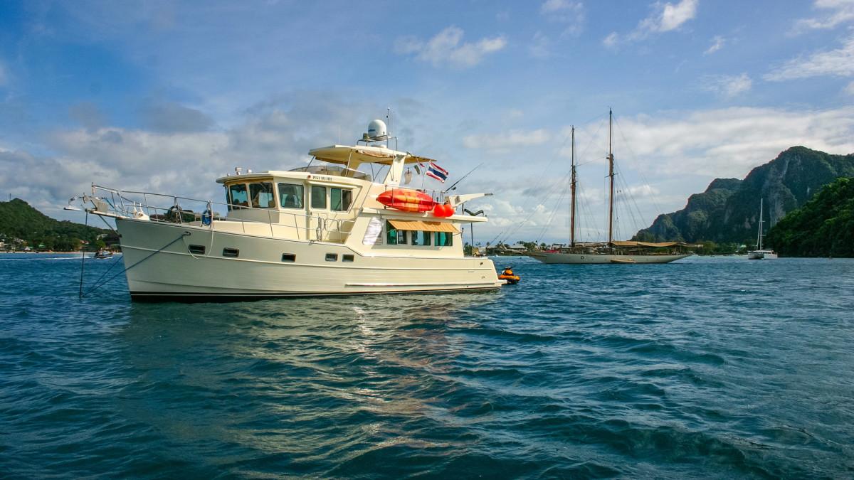 North Pacific 49PH at anchor