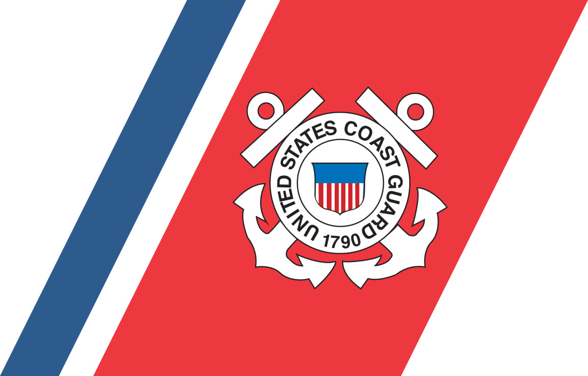 The final version of the Coast Guard Racing Stripe whose colors, size and angle were specified by the Loewy-Snaith design firm for use by the service. Coast Guard Collection.