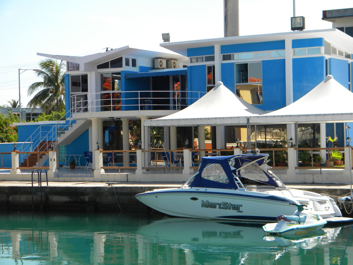 The Hemingway Yacht Club's HQ is at the end of one of four channels that constitutes the marina.