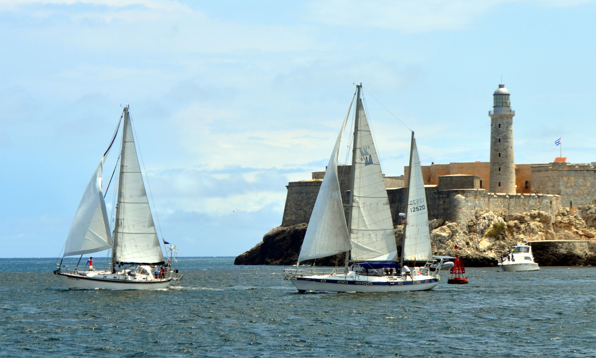 The 25th anniversary celebration includes a regatta that passes in front of Havana's iconic El Morro castle.