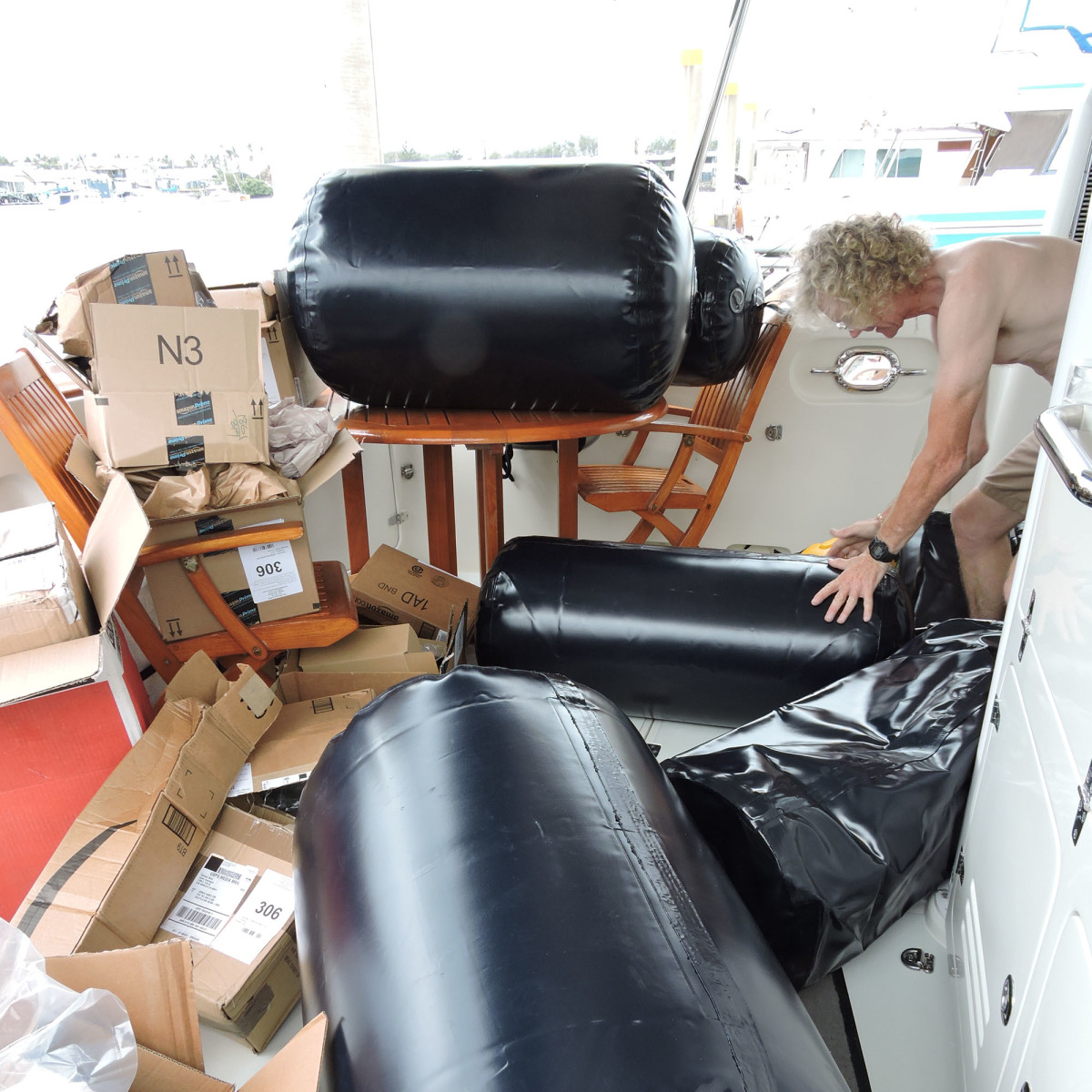 ProStock Marine inflatable fenders are big enough to protect the boat on docks exposed to surge and strong enough to handle rough concrete walls for years.