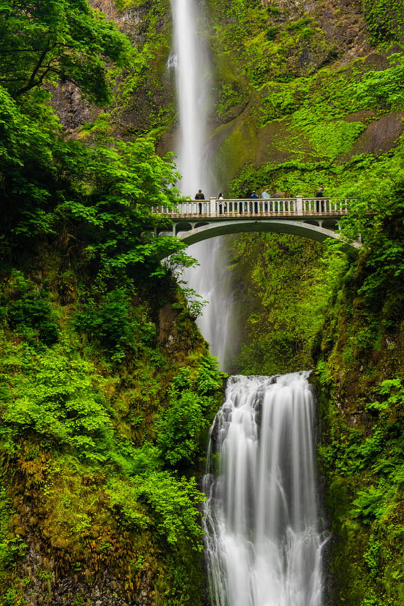 Multnomah Falls at 620 feet, is the most visited tourist attraction in the Northwest.