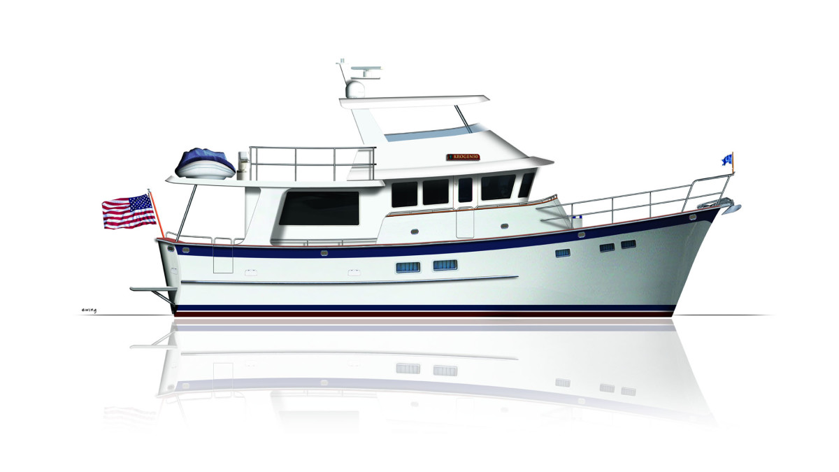 The new Krogen 50' Open concept that is currently under construction
