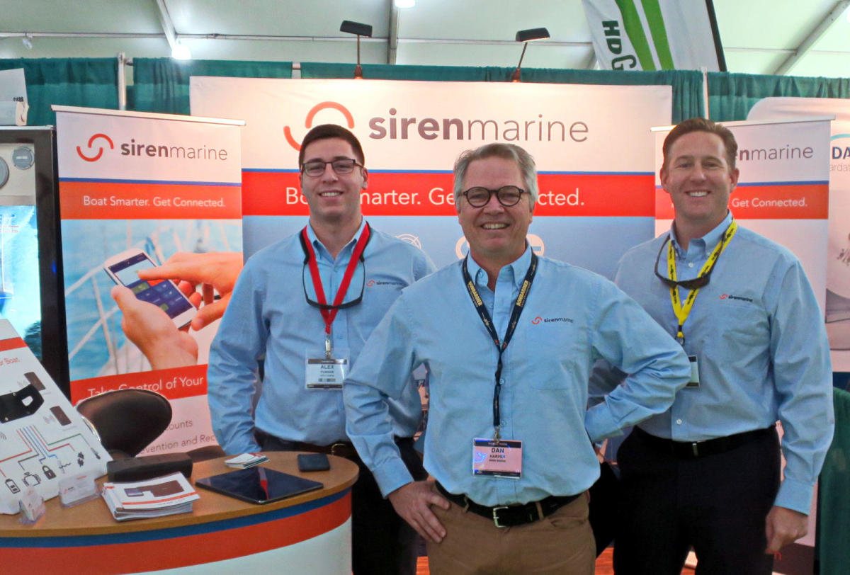 The Sirenmarine team at the Miami International Boat Show in 2017.