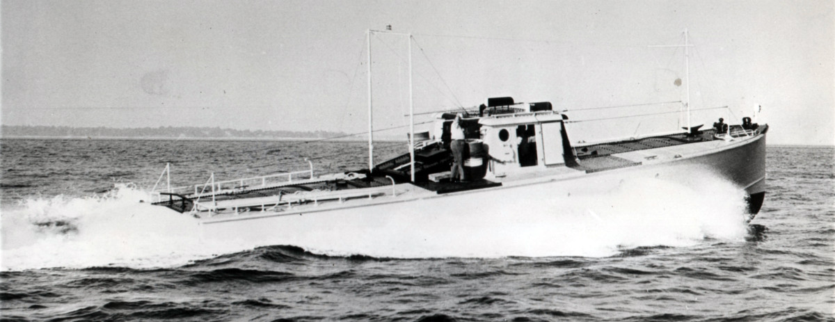 This is what Granma looked like in her original role as a bomb target boat. Navy dive bomber pilots would try to hit the boat, and the boat's crew would try not be hit. The bombs were filled with water not explosives, and even though the decks and house were steel plated for protection, being hit would have been an unpleasant experience.