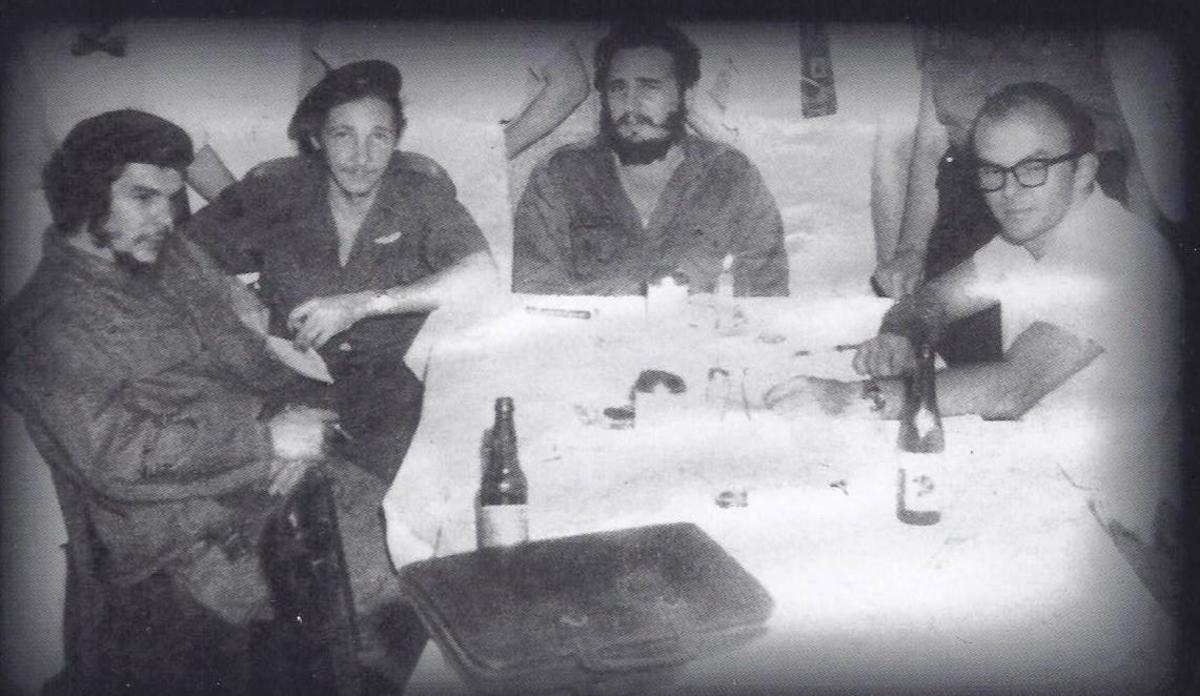Che Guavera, Raul Castro and Fidel Castro share a table with Antonio del Conde. My joke is that the picture is rare because it shows an Argentine and two Cubans who don't care much for dancing with a Mexican who doesn't much enjoy drinking.