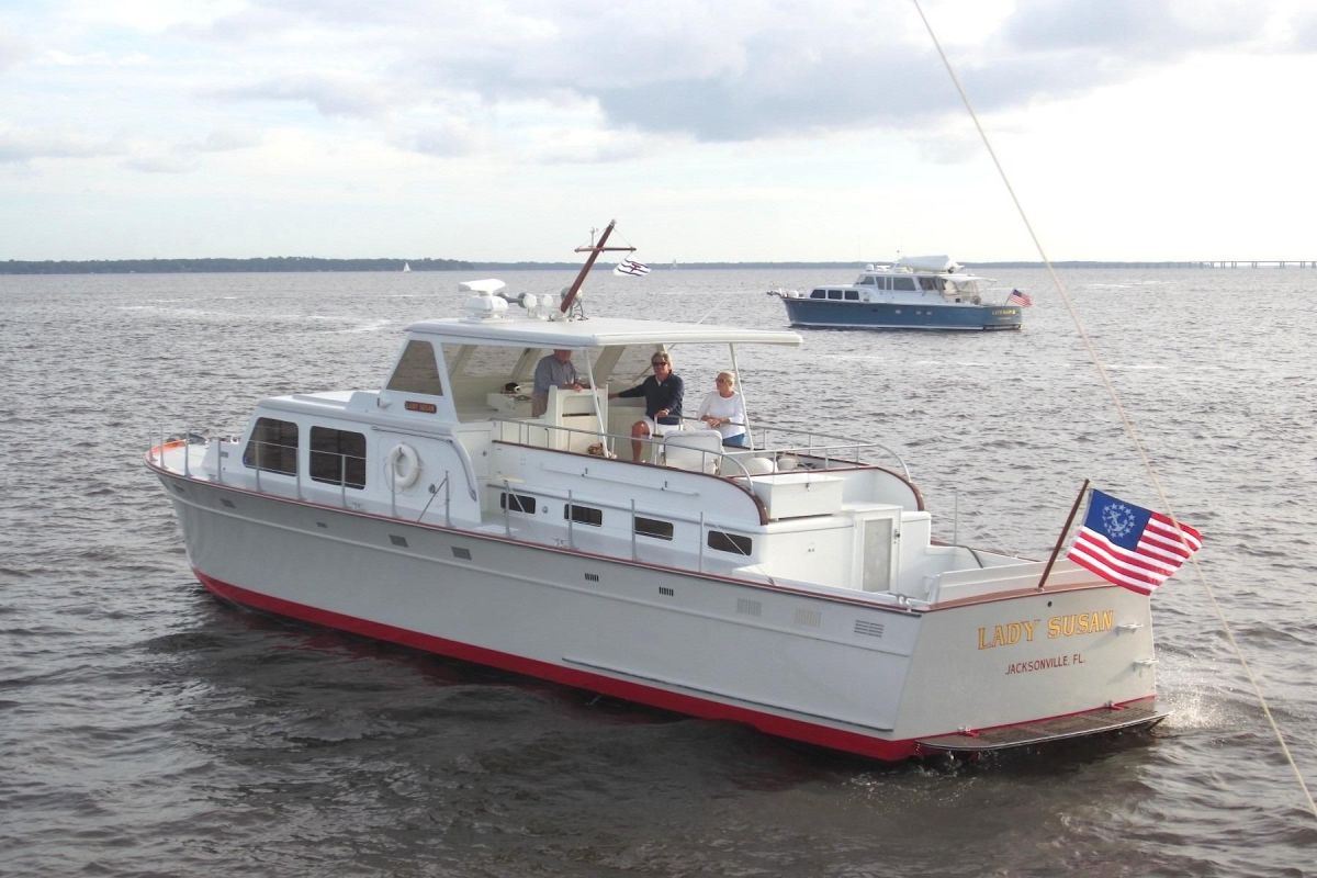 Yacht restoration expert Jim Moores says whoever converted Granma from a naval vessel was inspired by the Huckins company's designs, such as this 1956 model.