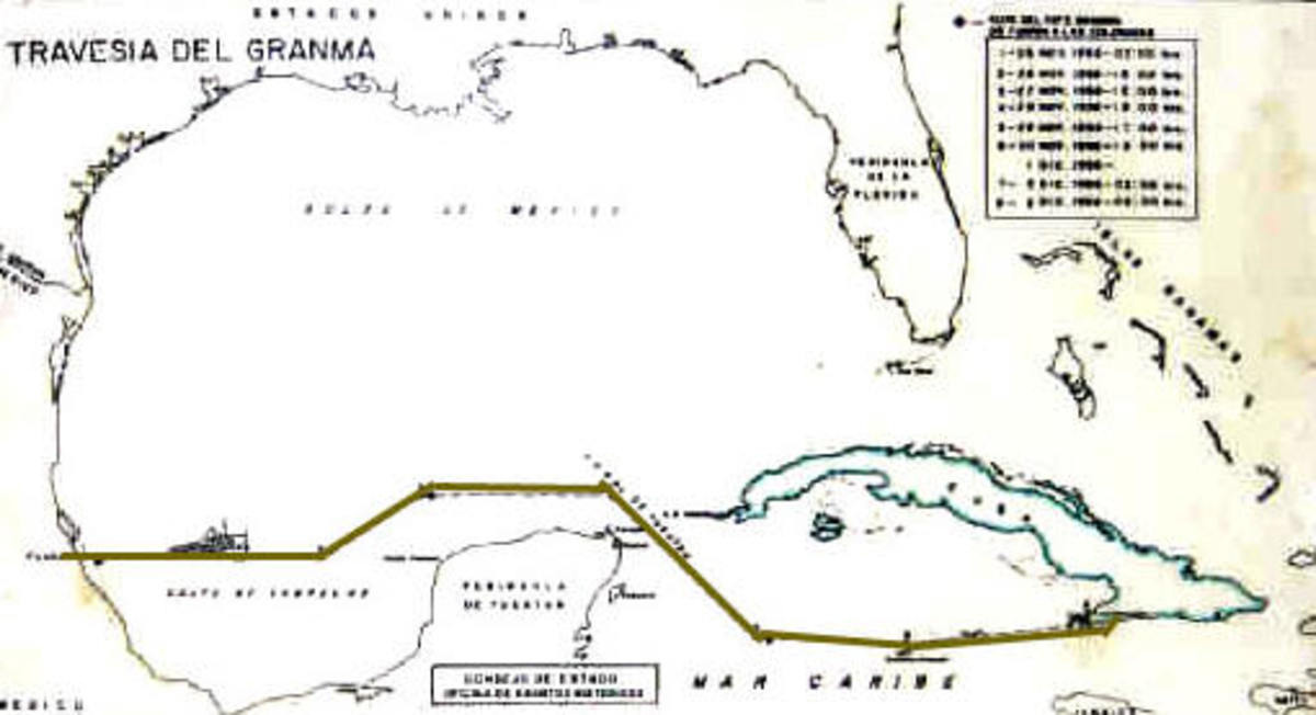 Granma crossed 1,200 miles of rough seas to reach Eastern Cuba.