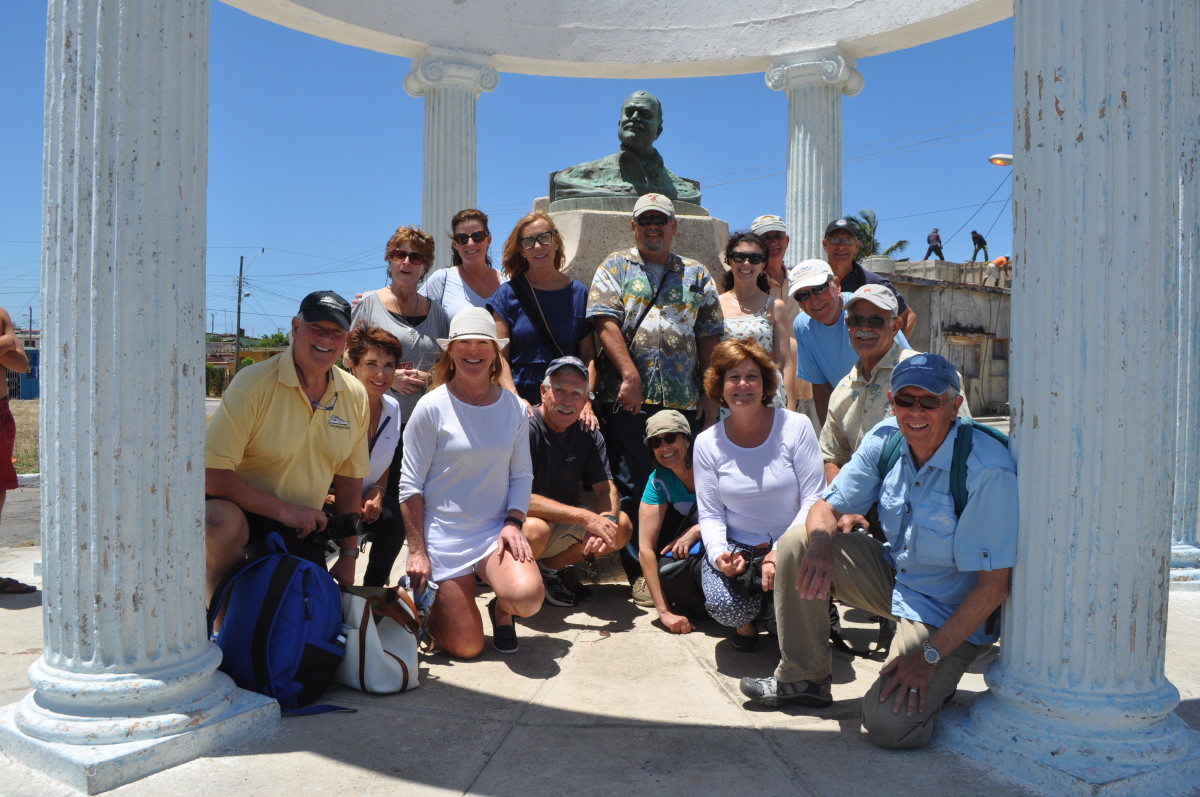 The AIM Marine Group and PassageMaker magazine ran a rally to Cuba in April 2016, which was very successful. We are weighing whether to repeat the program in 2018. Here participants pose in front of a bust of Ernest Hemingway in the fishing village where he kept his boat.