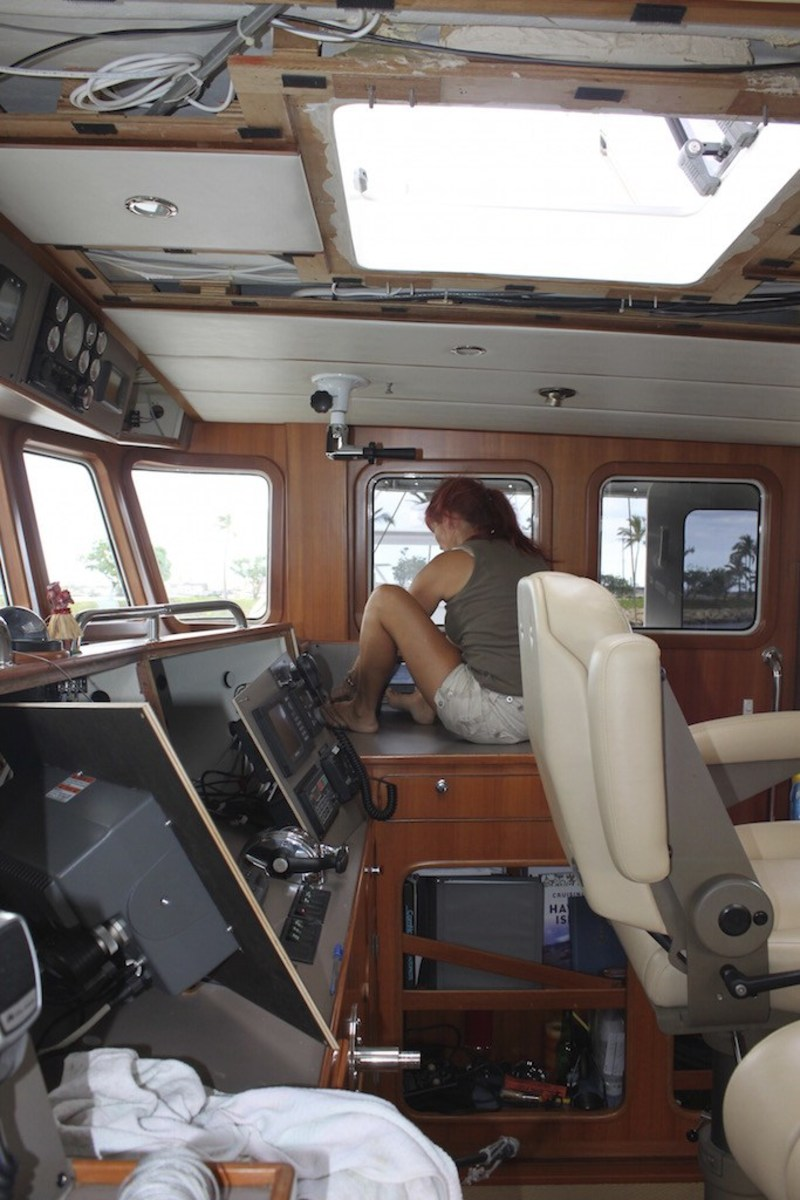 It takes vision to look past the enormity of some projects, especially the difficulties of such a large platform. Updating electronics and other systems is beyond the comfort level of most boat owners, yet it is the only way to do it right.