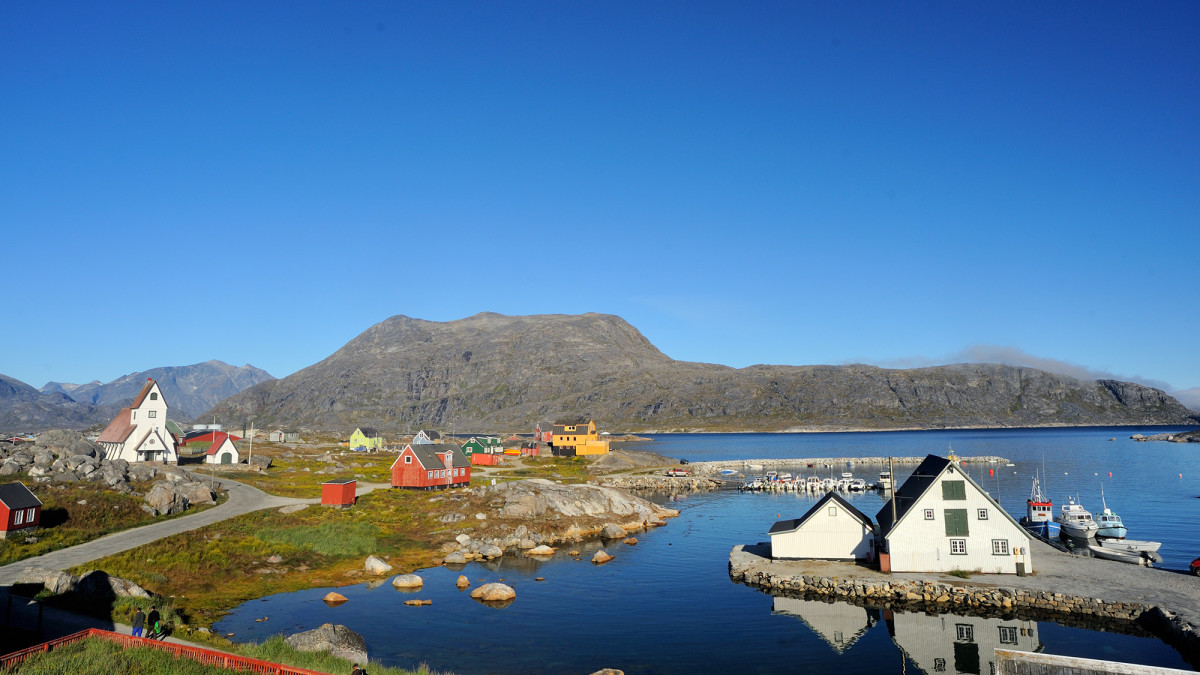 The stunningly beautiful town of Nanortalik, Greenland.