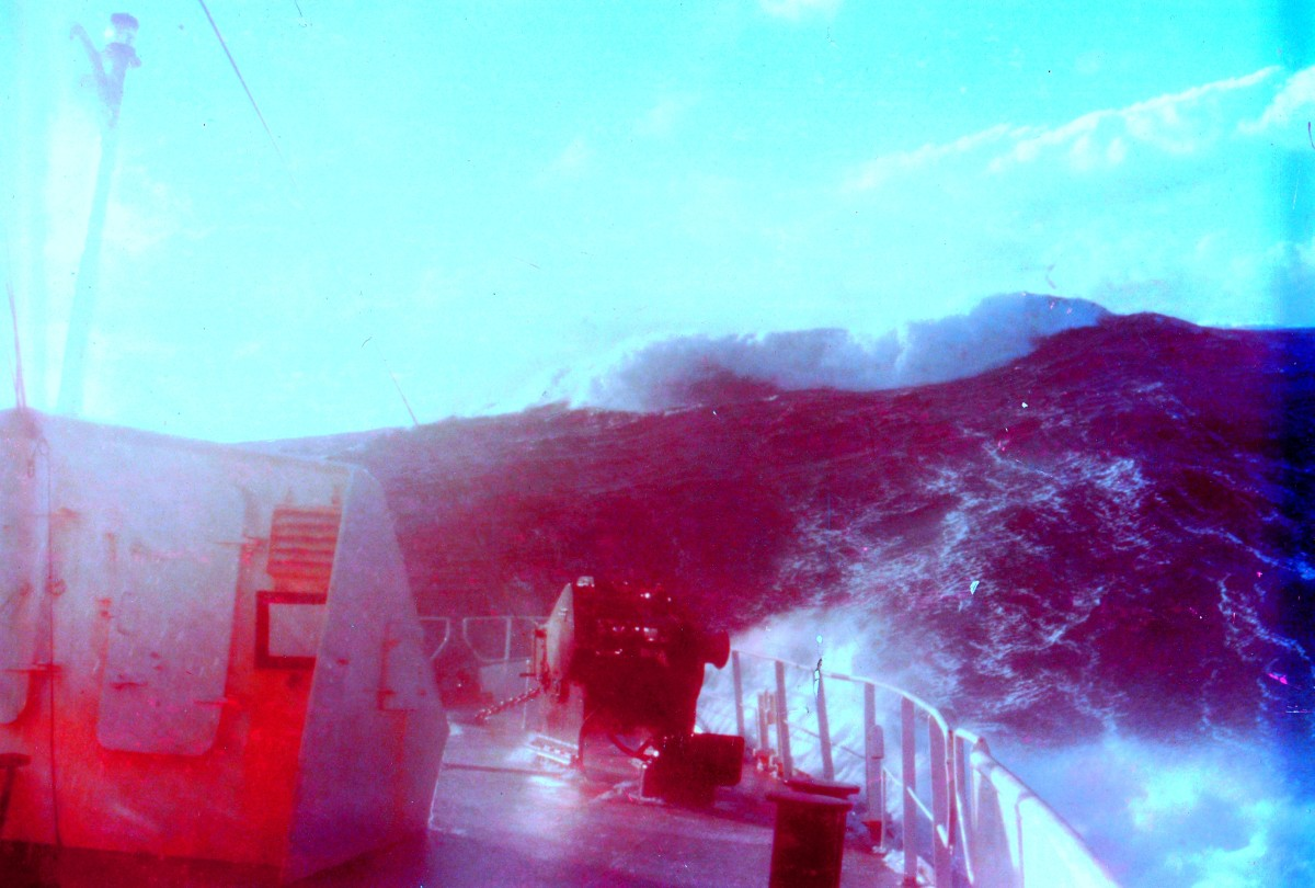 An ominous sight looking abaft of an ocean-going pilot tug.