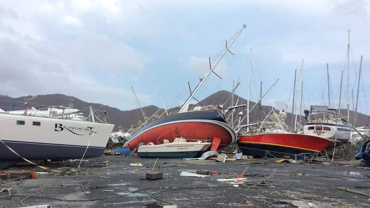 Boat Wreckage At Nanny Cay After Irma Passagemaker