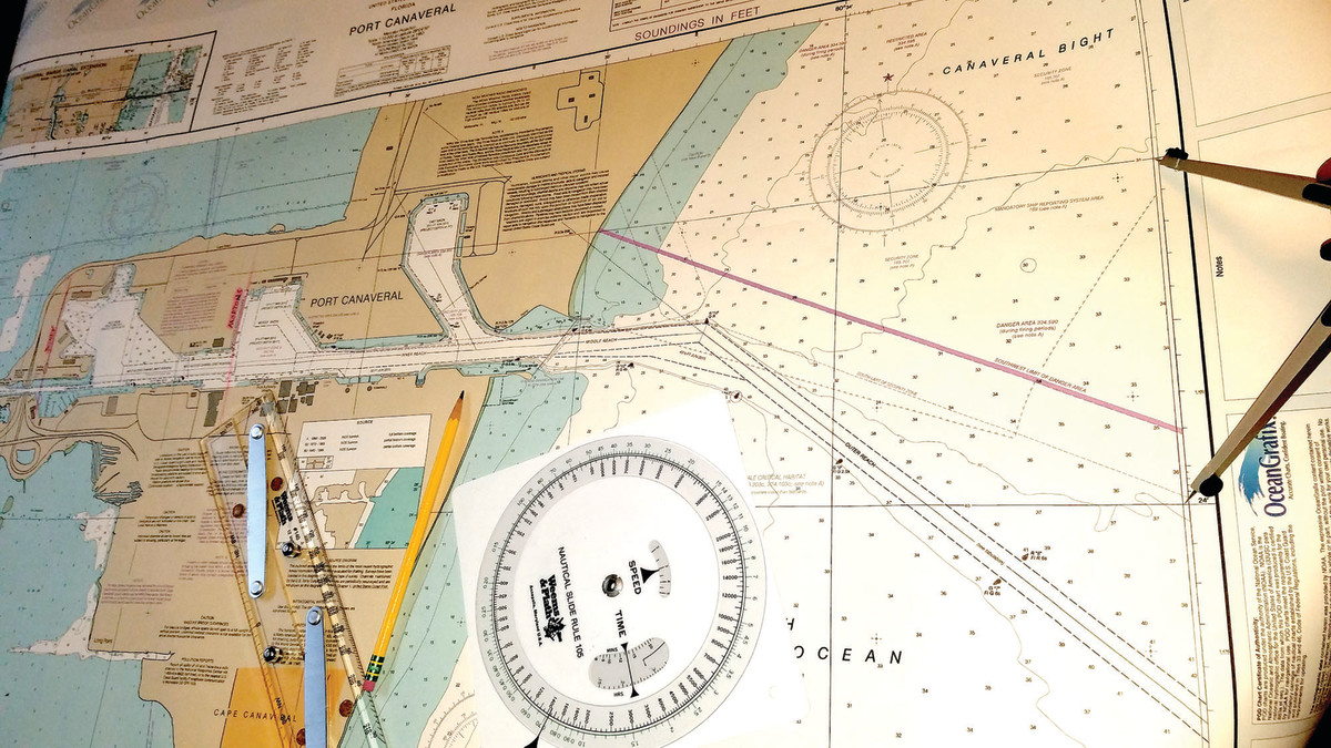 The easiest way to set your dividers to a nautical mile is to measure out a minute of latitude. One minute of latitude will always equal one nautical mile.