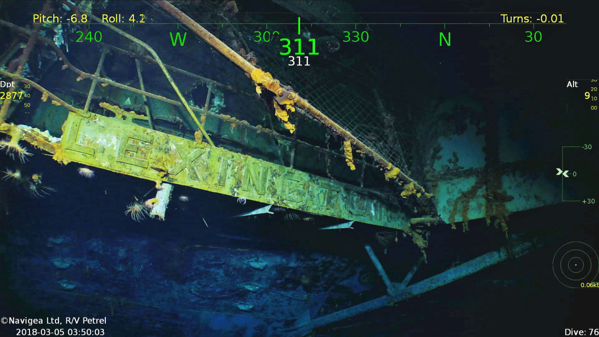 Uss Lexington Found In Coral Sea Passagemaker