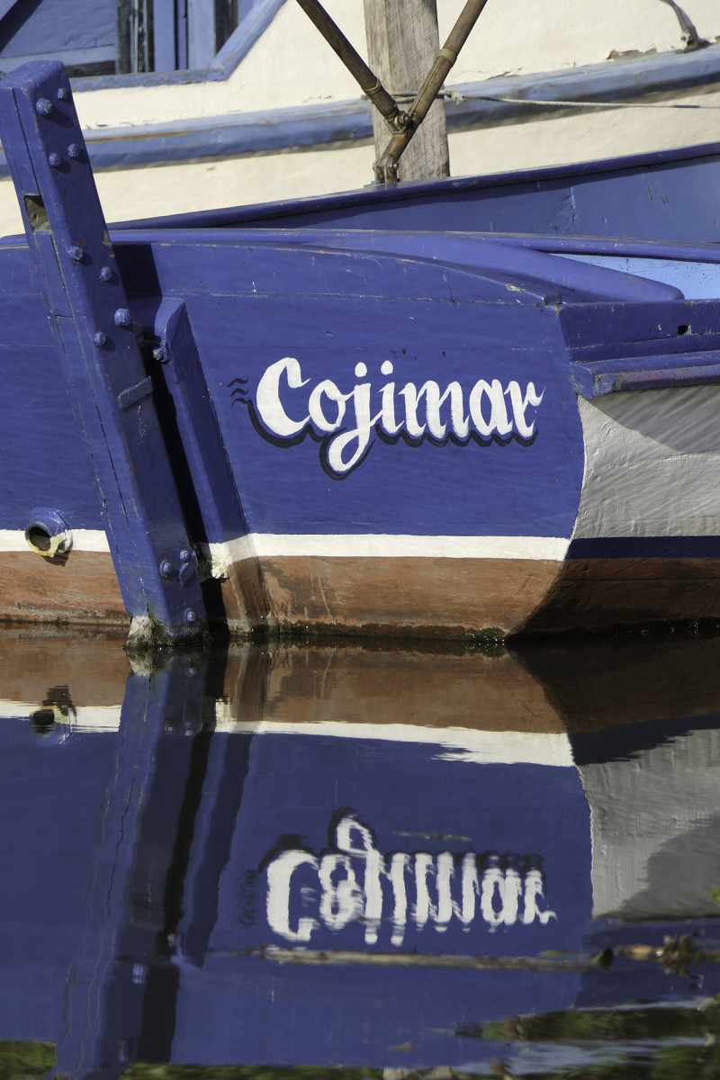 A traditional fishing skiff in Cojimar, where Pilar was moored.