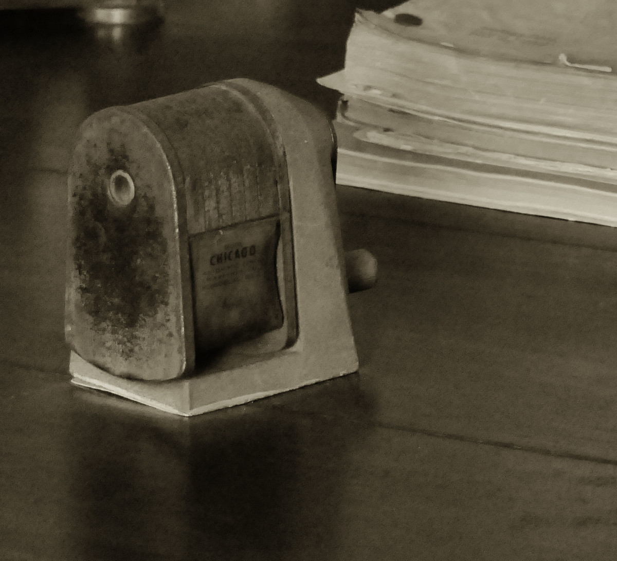 A Hemmingway relic pencil sharpener.