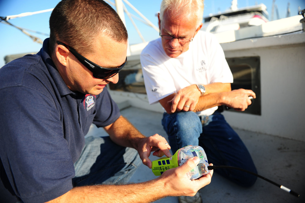 The Coast Guard encourages all boaters, commercial and recreational, to invest in the life-saving device because it is capable of alerting responders a vessel is in distress and provides a precise GPS location for rescue crews.