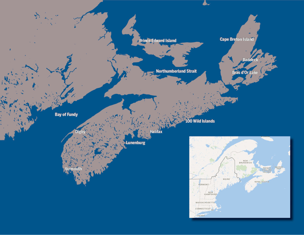 A map of Nova Scotia for reference