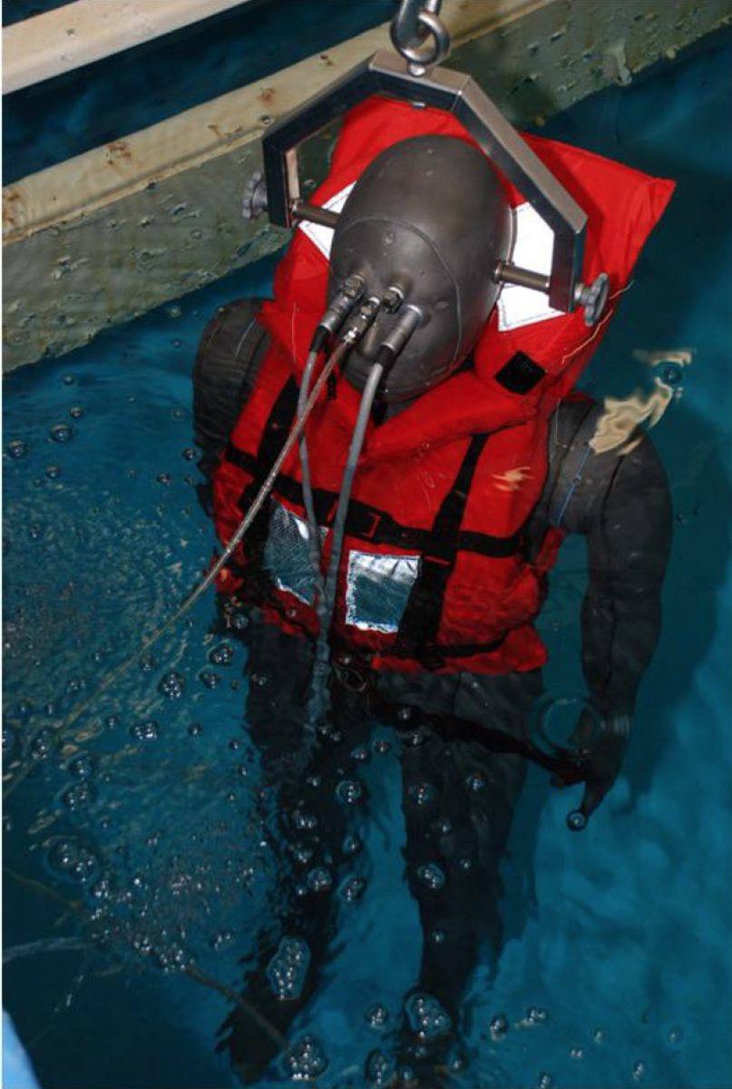 Nemo, the U.S. Navy's cold-water test dummy.