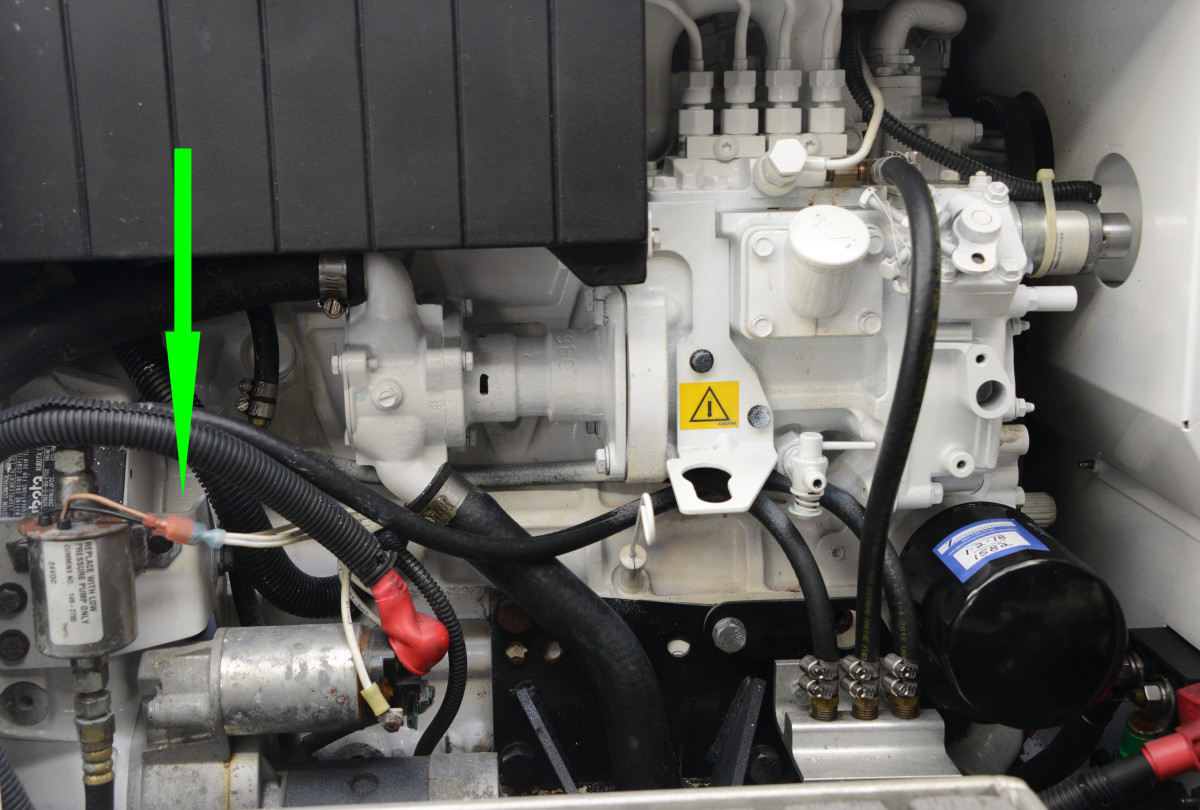 A failed lift pump will prevent the genset from starting. This electric pump relies on 12 volts to run. If no fuel comes out of the bleed fitting while cranking, this pump has failed or there is a blockage in the fuel supply.