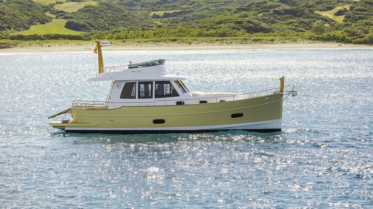 Minorca Yachts blends the traditional with the contemporary, using historic regional influences to create a boat with modern international appeal