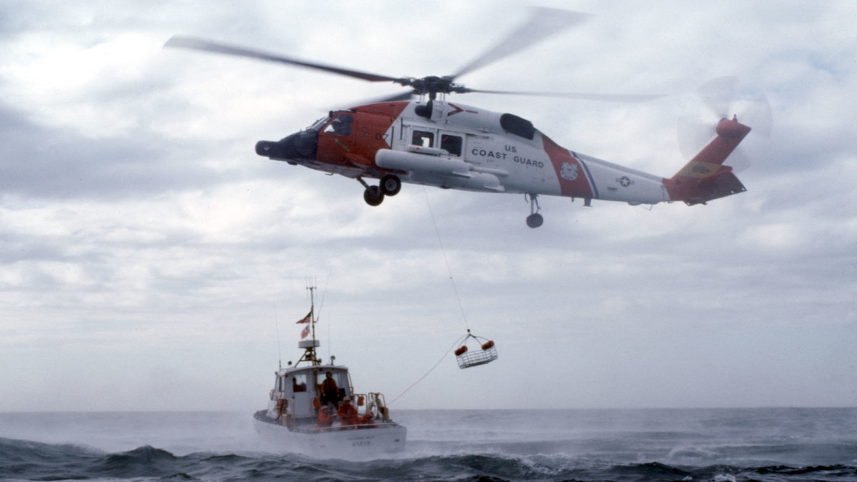 USCG MH-60 Jayhawk helicopter.