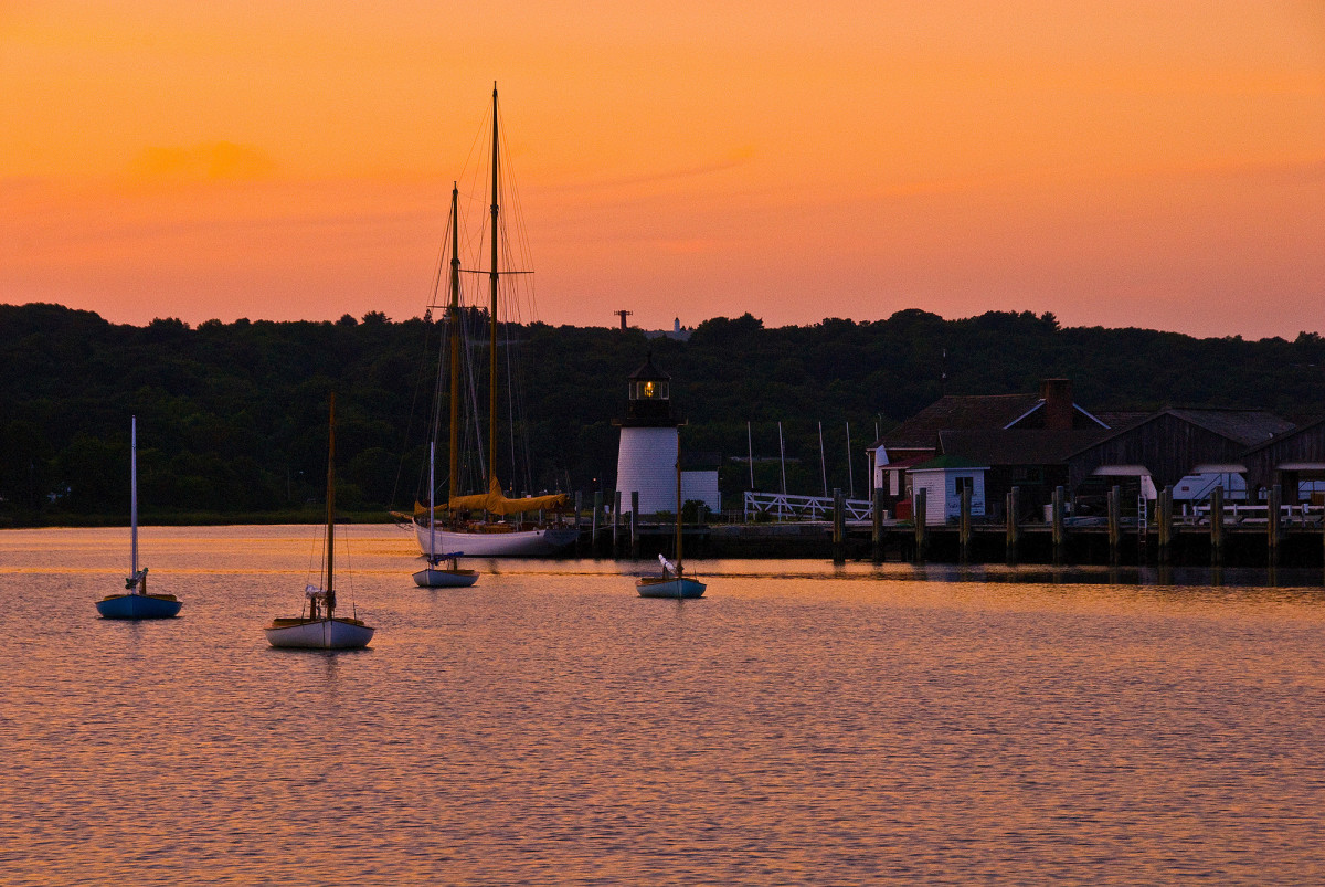 Mystic Seaport at Sunset.