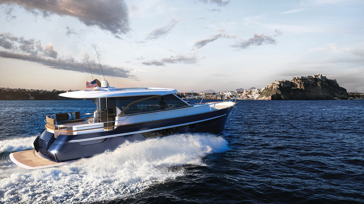 The Slide Hull design from Vripack keeps this Burger 48' Cruiser comfortable at speed with little bow rise when getting up on plane and reduced pounding.