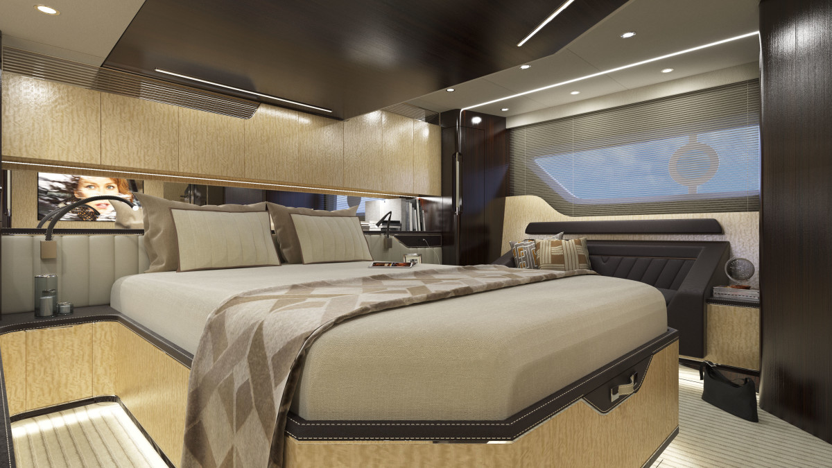 Rendering of the master stateroom.