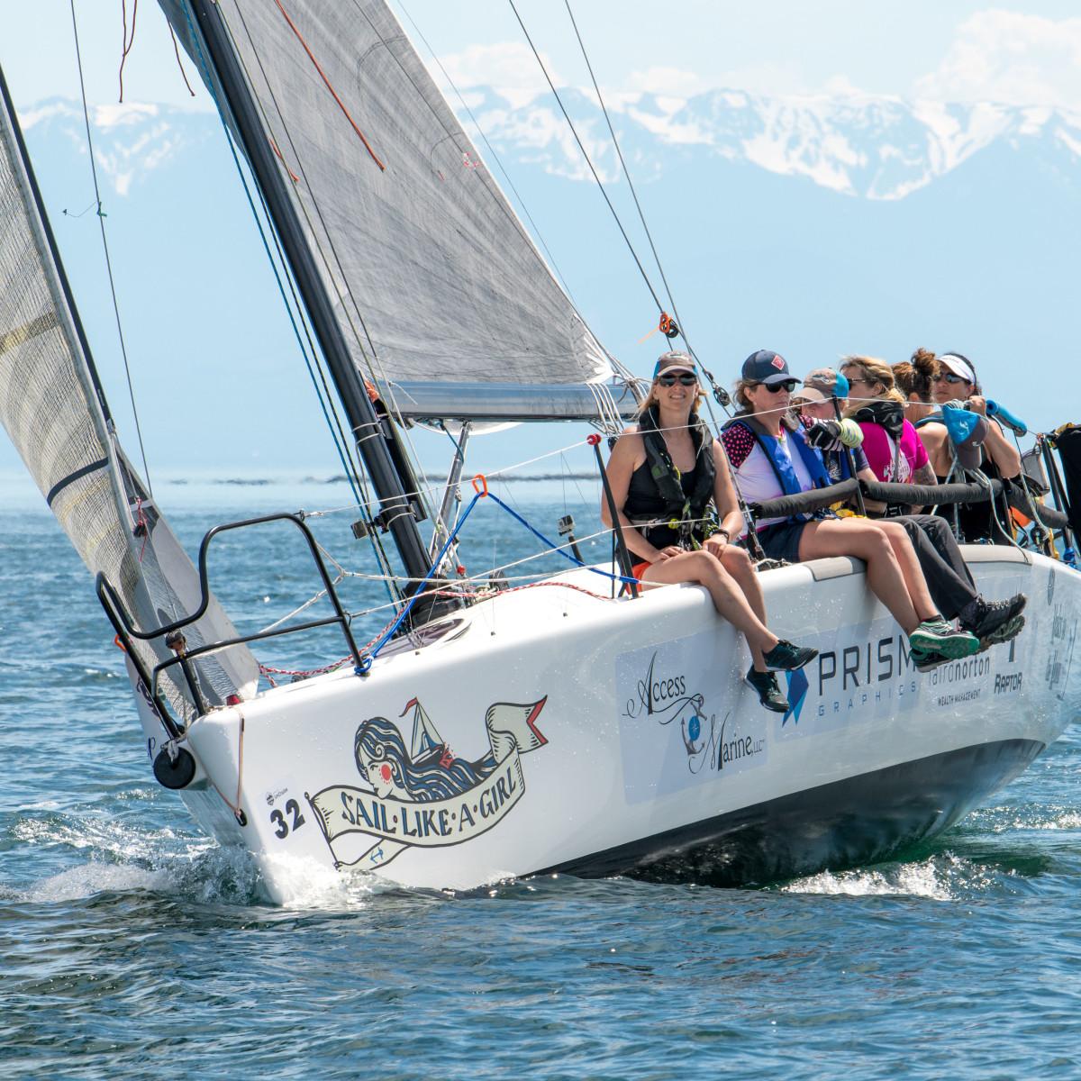 Team Sail Like A Girl on their Melges 32.